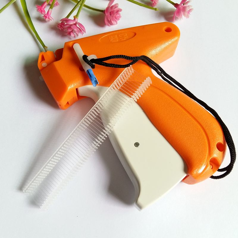 1pcs Tag Gun +2000pcs 12mm Trademark Barbs Clothes Garment Price Label Brand Tagging Tags Machine Gun ...