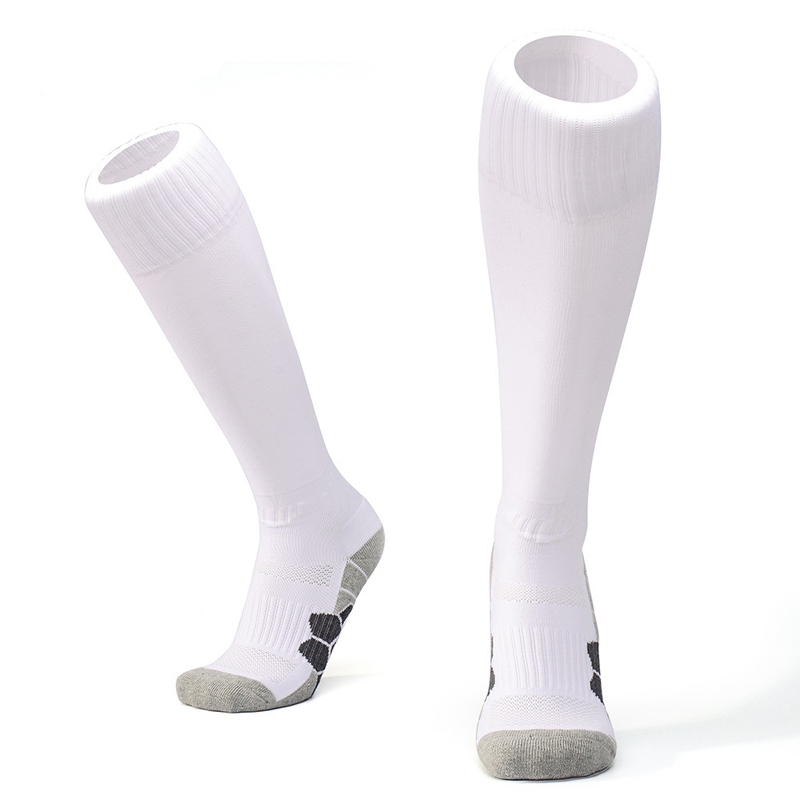 1a7d33847bf Children Football Socks Boys Soccer Sock Kid s Above Knee Plain Socks Long  Soccer Stockings Men Over Knee High Match Sock Adult-in Soccer Socks from  Sports ...
