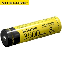 2017 Nitecore NL1835HP High Performance 18650 3500mAh 3.6V 12.6Wh 8A Protected Li ion Button Top Battery for High Drain Devices