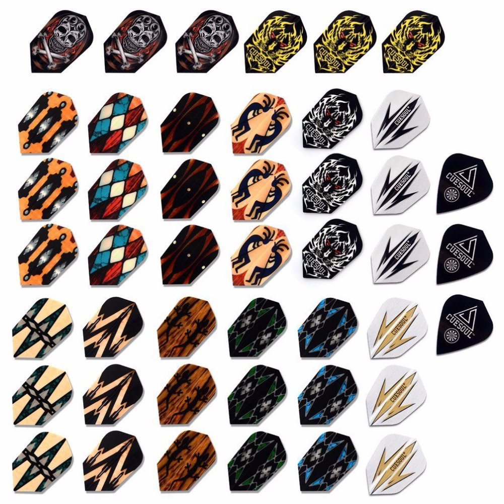CUESOUL Wholesale Price 45PCS Slim Dart Flights Multi-color Selection For Soft Tip Darts FREE SHIPPING