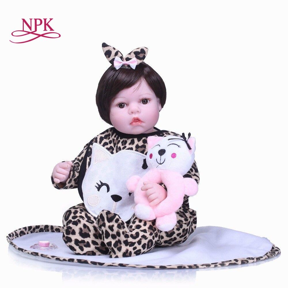 NPK New 55cm silicone reborn dolls lifelike newborn babies toys soft touch bebe toys bonecas reborn de silicona children plamate