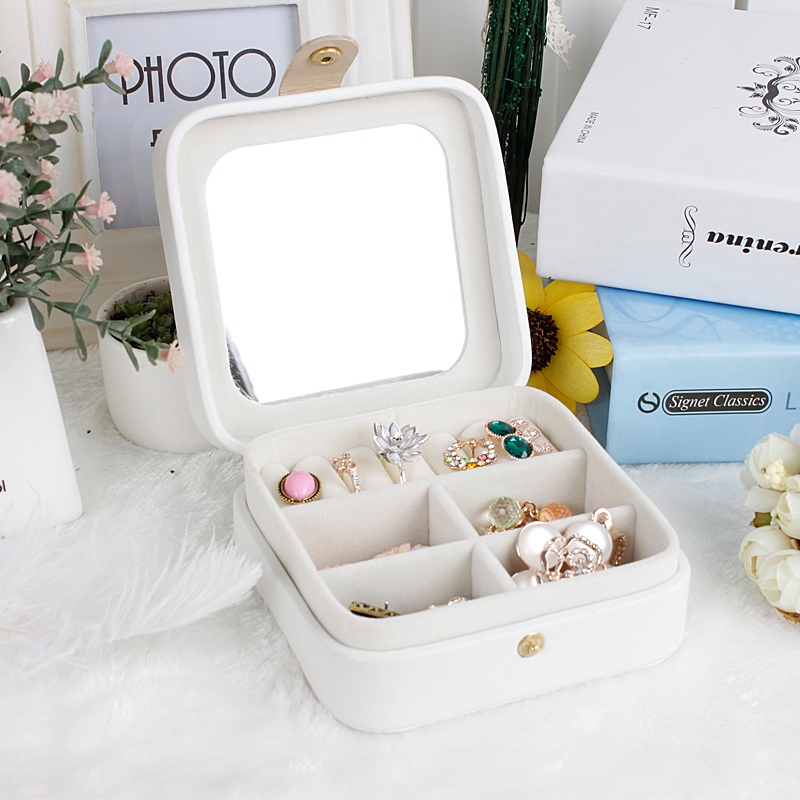 2016 New Mini Creative Jewelry Box Makeup Casket for Jewelry Trave Case Birthday Gift Ring Earrings