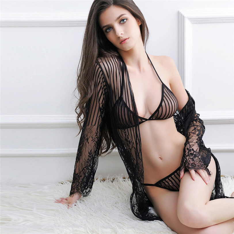 2017 New Charming Women Sexy Lingerie Chest A File Open Underwear Lace Intimates Female Exotic Apparel Soft Comfortable Mar 2