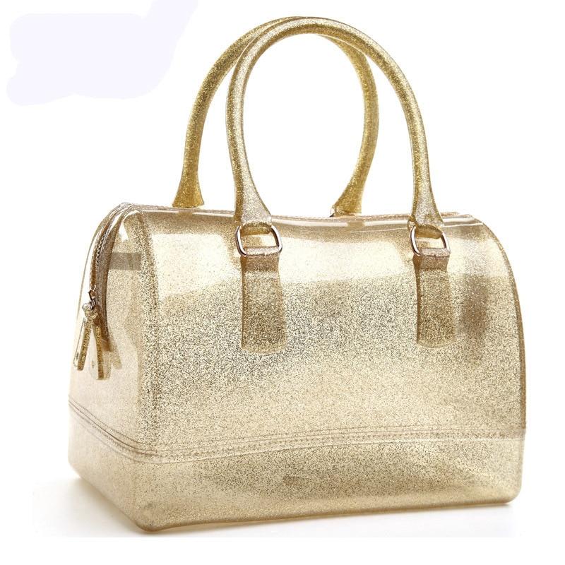 여자 핸드백 가죽 가방 새로운 젤리 캔디 베개 가기 - 핸드백 - 사진 4
