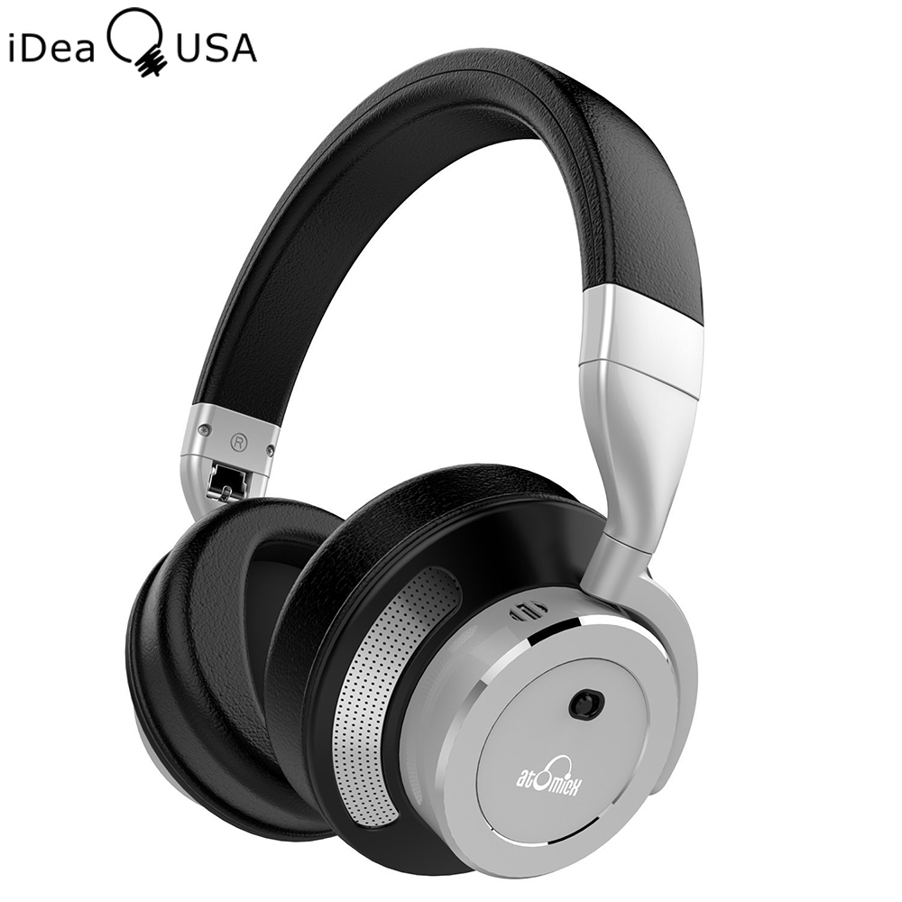 iDeaUSA V200 Active Noise Cancelling Bluetooth Headphones with Microphone Over Ear Foldable Wireless Headphone HiFi Sound earphone musical ear phones headphones with microphone bluetooth headset wireless noise cancelling computer fm tf card headband