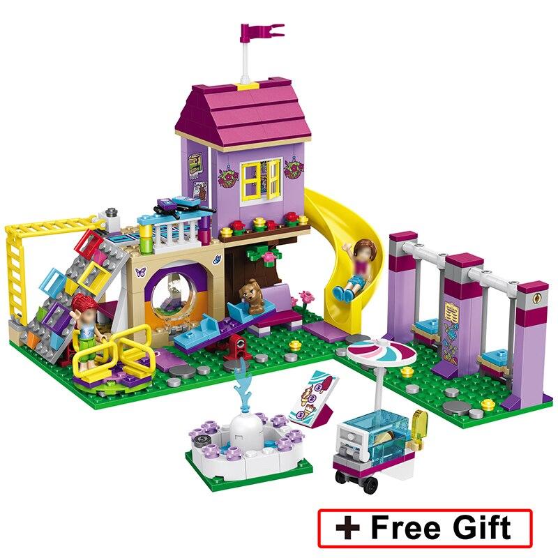 Lele 37047 332pcs Model Building Princess Friends Series Blocks Girls Heartlake City Playground Lele Bricks Toys Legoings 41325 Selling Well All Over The World Model Building
