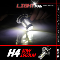2Pcs Lot 80W High Power Cree Xenon Super Bright White Headlight Led Vehicles Car Fog Light