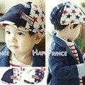2014 Nova Retail outono cor feitiço Pentagrama meninos cap Hat tampão repicado crianças beret 2 cores das crianças