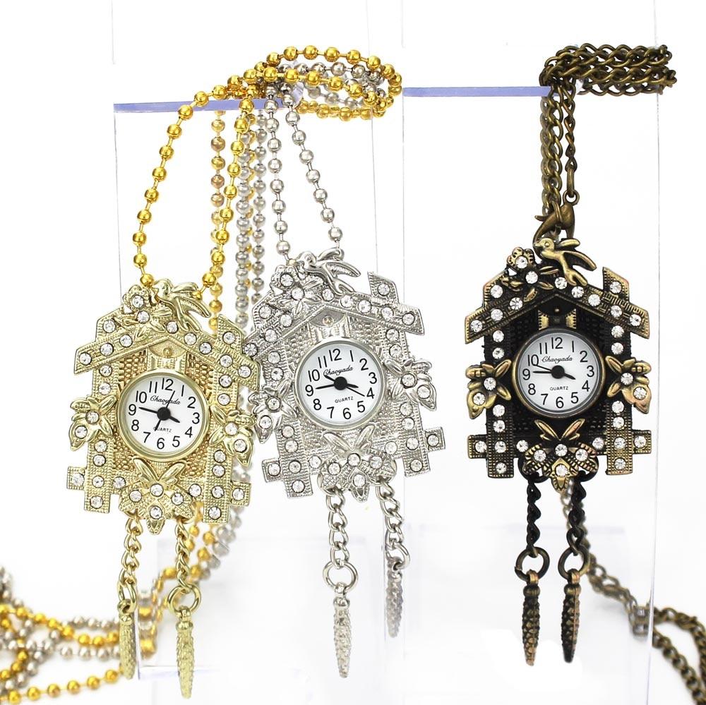 NY Fashion House Crystal Design Hänge Ficka Quartz Watch Chain - Fickur - Foto 1