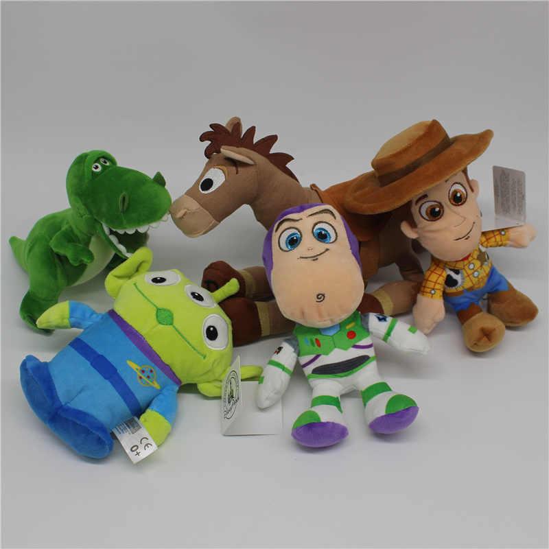 1 pcs Original Alienígena Toy Story Buzz Lightyear woody Bullseye 3 Rex dinossauro Brinquedos Crianças Brinquedos de Pelúcia Super Macia