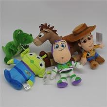 1 pcs Originale Toy Story 3 woody Buzz Lightyear Bullseye Alien Rex  dinosauro Farcito Super Soft 16c0787294a