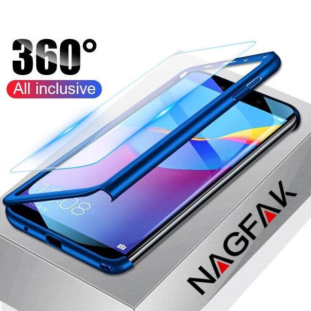 Sang trọng 360 Bảo Vệ Đầy Đủ Điện Thoại Trường Hợp Đối Với Huawei P9 P20 Lite P10 Cộng Với Trường Hợp Đối Với Huawei P Thông Minh Người Bạn Đời 20 10 Lite Pro Trường Hợp Bìa