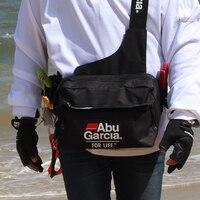 HOT ABU GARCIA Black 600D Nylon Multi Pocket Fishing Bag Outdoor Sports Waist Bag Fishing Tackle