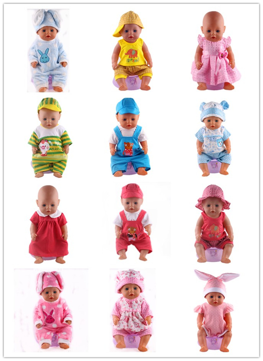 14 Color Handmade Clothes Fit  43cm Zapf Baby Born Doll Clothes Children Christmas Gift Free Shipping meired grid jumpsuit hat wear fit 43cm baby born zapf children best birthday gift only sell clothes