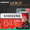 SAMSUNG EVO Plus de tarjeta de memoria de 8 GB/32 GB/SDHC 64 GB/128 GB/256 GB/SDXC Micro SD TF TARJETA DE Class10 Microsd C10 UHS-1 tarjetas 100% Original