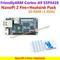 FriendlyARM S5P4418 Quad Cortex-A9 NanoPi 2 Fogo Demo Board (400 MHz ~ 1.4 GHz 1 GB DDR3 de RAM) + dissipador de calor = NanoPi 2 Fogo Pacote Padrão