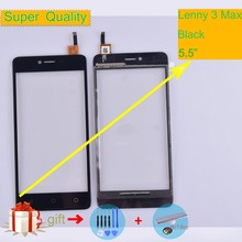 For Wiko Lenny 3 Lenny3 Max Touch Screen Panel Sensor Digitizer Front Outer Glass Touchscreen Black