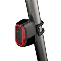 Meilan X6 חכם מנורת זנב אור אופני אור אופניים רכיבה על אופניים 16 USB LED נטענת פנס 7 מצבים 4 צבעים הוכחת מים גשם