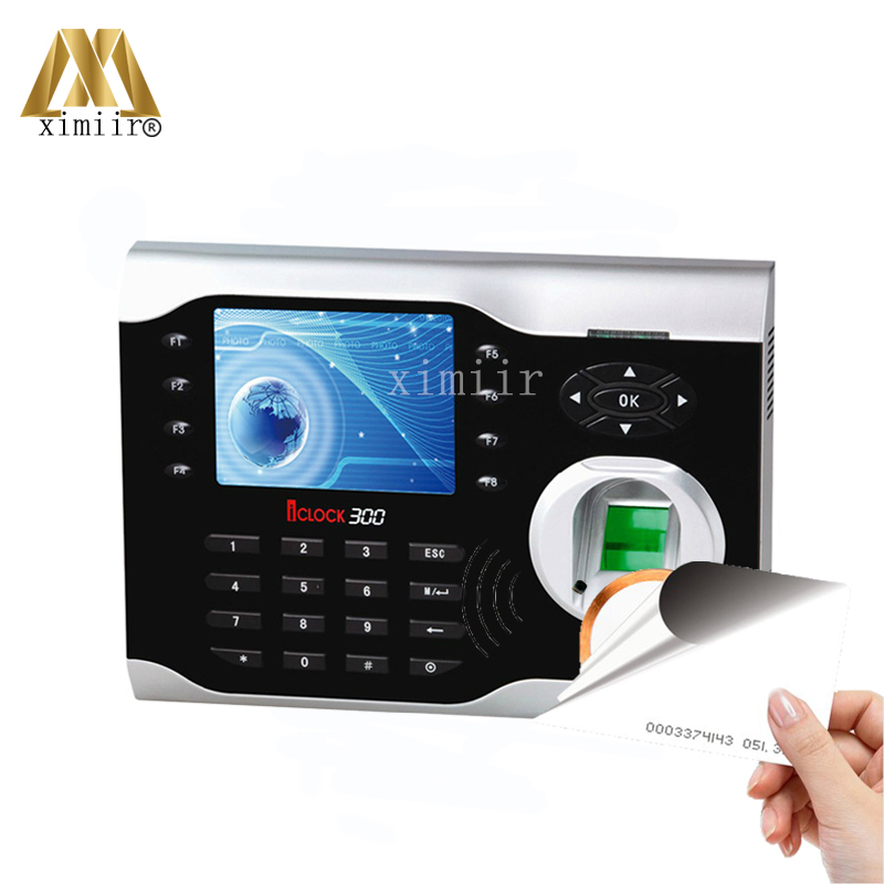 Fingerprint And RFID Card Time Attendance Time Clock ZK ICLOCK300 TCP/IP Biometric Fingerprint Time Recorder With ID Card Reader high speed zk fingerprint time attendance terminal iclock360 125khz em id card punch card and fingerprint time clock system