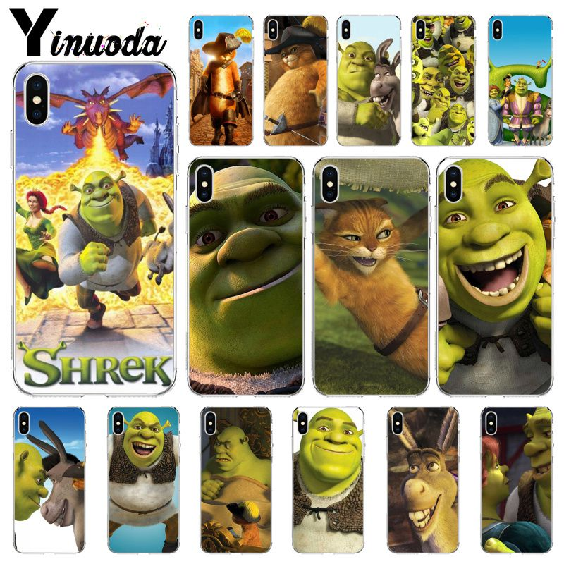 Yinuoda Stupid and lovely Shrek Colorful Cute Phone Accessories Case for iPhone 5 5Sx 6 7