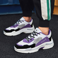 Man Running Shoes White Purple Fitness Male Sneakers Spring Autumn Walking Sneakers Men Breathable Mens Gym Trainers Shoes