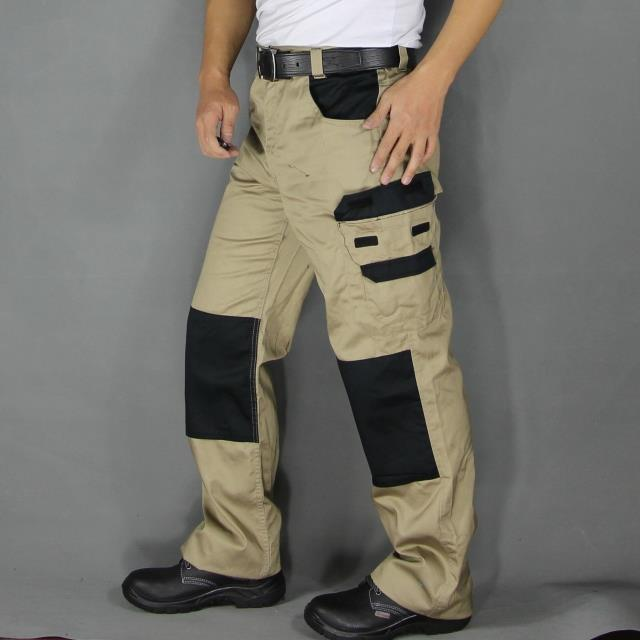 Mens work pants safety Pants Military More Pockets Zipper Trousers Outdoors Overalls Army Pants Electrician Auto Repair Workers