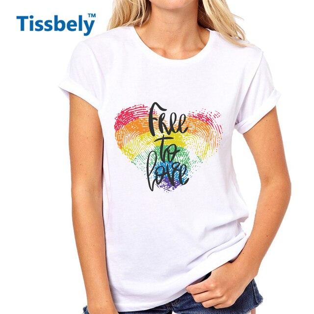 8d75a83ccd29b Tissbely Frases Camiseta Mujeres de Letras de Amor Del Corazón y de Huellas  Dactilares Heart Negro