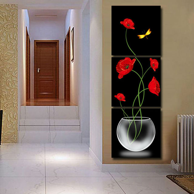 Awesome Aliexpresscom Buy 3 Panels Painting Wall Hanging Canvas Picture
