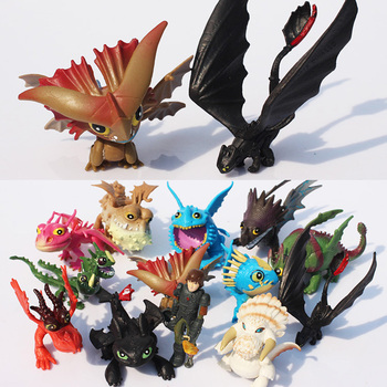 13pcs/set How To Train Your Dragon PVC dragon toys night fury Figure Toys Hiccup Toothless Skull Gronckle Deadly Nadder Toy Gif