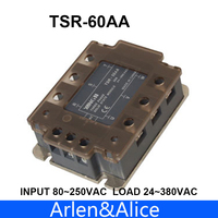 60AA TSR 60AA Three phase SSR input 80~250VAC load 24 380VAC single phase AC solid state relay