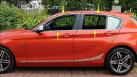 For BMW 1 Series F20 2012 2017 Stainless Steel Full Window Sill Trims Without Center Pillar