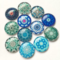 Round Glass Cabochon 12mm Mixed Pattern Handmade Diy embellishments Suppies for jewelry clasps craft 50pcs TP-405