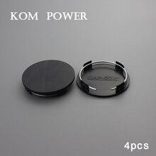KOM 4pcs 60mm black abs center caps for wheels car universal no logo automobile rims dust cover hub hood without emblem sticker