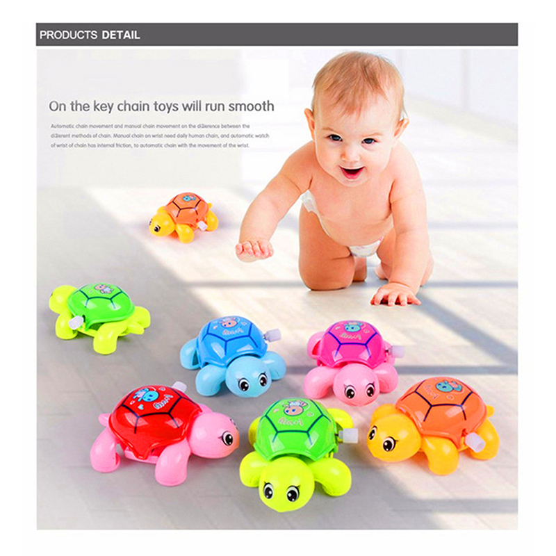 Cartoon Animal Clockwork Tortoise Baby Turtles Toys Infant Crawling Wind UpToy Educational Kids Classic Toy Random Color