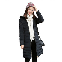 Зимнее пальто 2016 новая мода Корейский стиль с капюшоном длинный участок женской моды Slim Down дополняется оптовая женщин parkas 7392