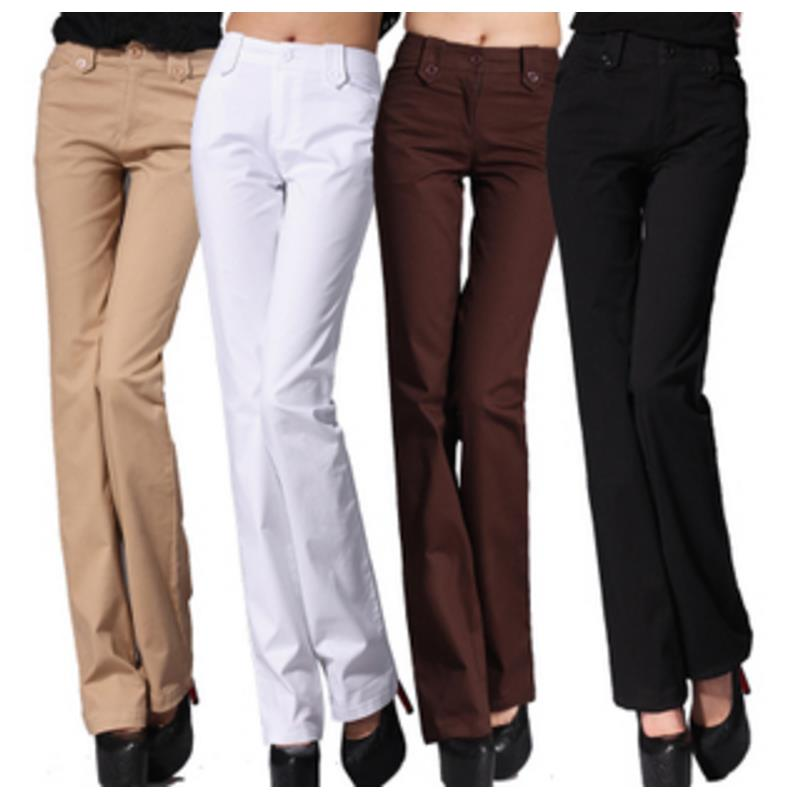 New Fashion Woman High Quality Flare Pants Mid Waist  Hips Trousers For Women Plus Size Xxxxl Free Shipping