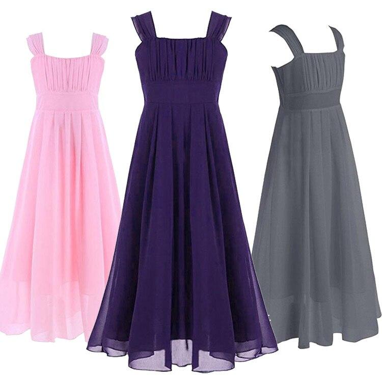 Tienda Online Elegante niñas vestido para bodas Tulle largo Noche ...