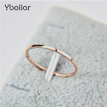 Ybollar Round Rings For Women Men 1mm Thin Stainless Steel Wedding Couples Ring Smooth Simplicity Fashion Jewelry
