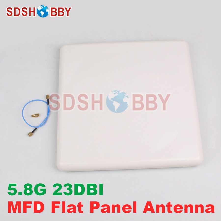 MyFlyDream MFD High Gain 5.8G Patch Antenna 23DBI Flat Panel Antenna 5180-5850MHz for MFD System conception of patch antenna at wide band