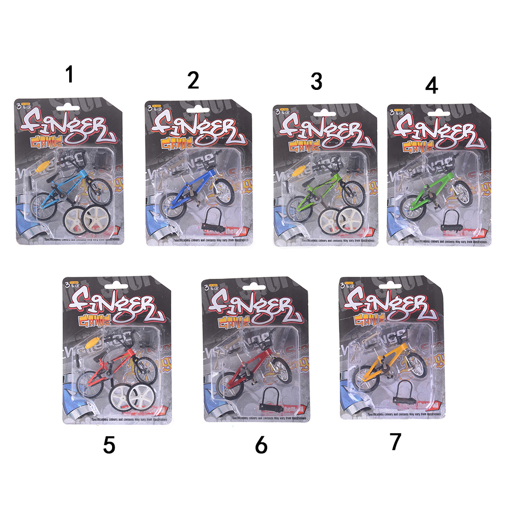 Mini Finger BMX Bicycle Flick Trix Finger Bikes Toys BMX Bicycle Model Bike Tech Deck Gadgets Novelty Gag Toys
