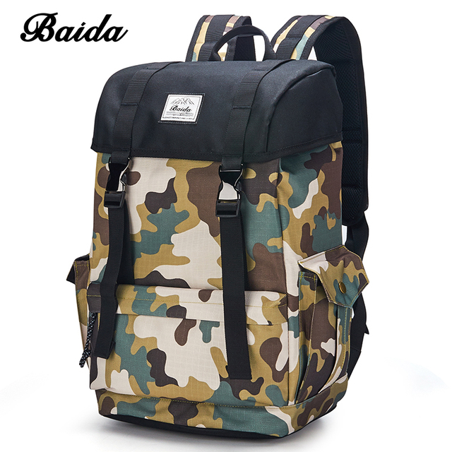 c0e0c98e693 DAIDA Men Military Backpacks Cool Casual Daypacks Canvas Camouflage Laptop Backpack  School Bags For Teenage Boy