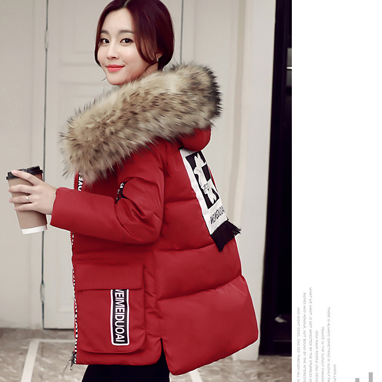 2017 New women thick coat solid with hooded fur collar women winter jacket cotton padded Female Coat Parka Warm Winter coats women winter coat leisure big yards hooded fur collar jacket thick warm cotton parkas new style female students overcoat ok238