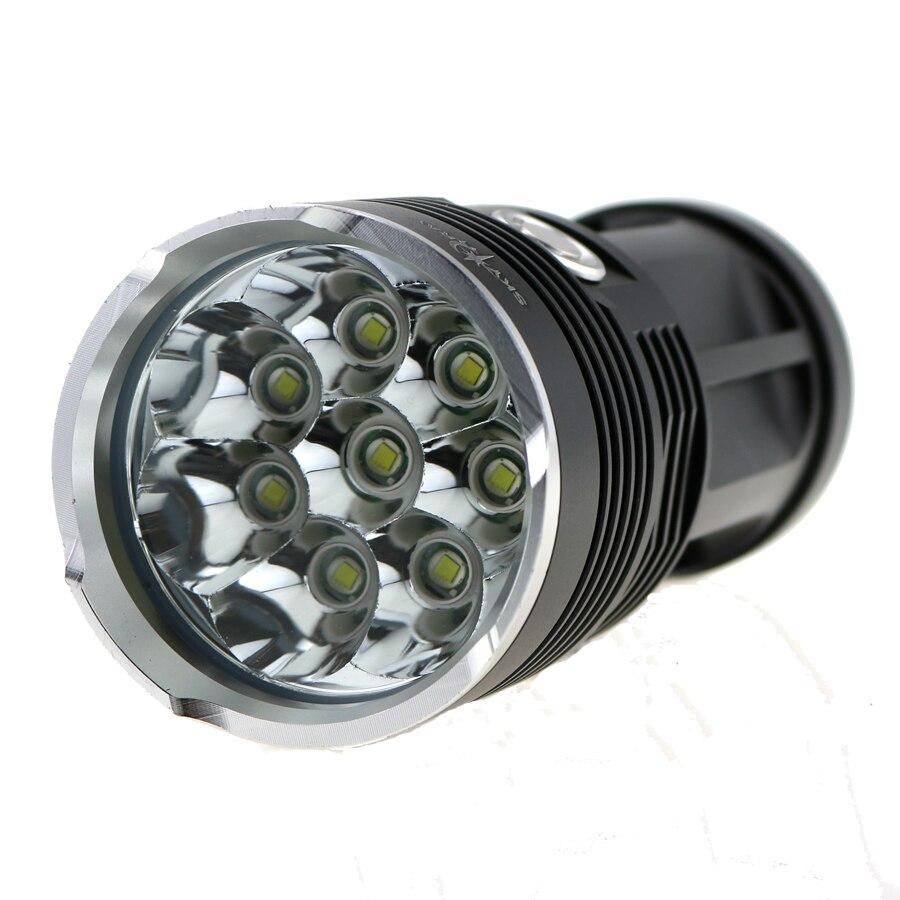 High Power 15000 Lumens SKYRAY King 8T6 LED Flashlamp 8 x CREE XM-L T6 LED Flashlight Torch 3 Modes High-Low-Strobe фонарик skyray 14 x t6 led 500 sy146