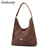 Znakomity New women's handbags hobo Suede leather shoulder bag female tassel Casual tote hand bags for women 2018 crossbody bag