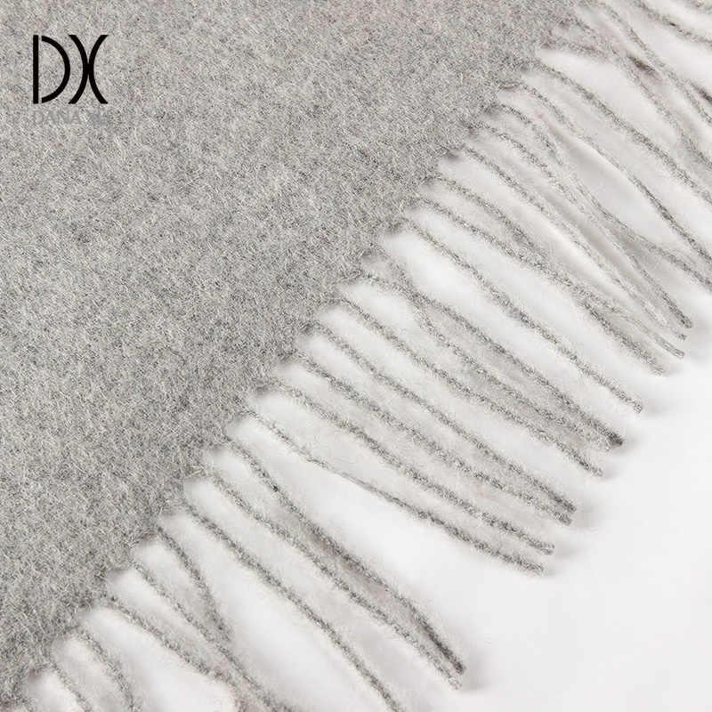 2018 nueva bufanda de invierno a la moda para las mujeres bufandas chales calientes marca de lujo abrigo de tela escocesa bufanda de lana cachemir Foulard largo