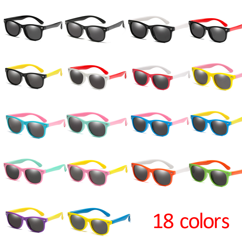 2019 New Mirror Kids Sunglasses TR90 Boys Girls Polarized Silicone Safety Sun Glasses Gift For Children Baby UV400 Gafas