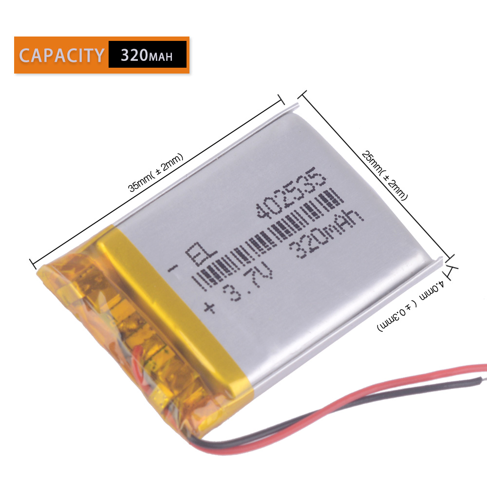 3pcs/Lot <font><b>3.7V</b></font> <font><b>320mAh</b></font> Polymer Li-ion Battery For Game Player mouse recorder speaker RC toys headephone Remote controller 402535 image