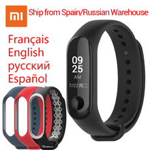 "Englisch/Spanisch Xiao mi mi Band 3 mi band 3 Fitness Tracker Heart Rate Monitor Smart Band 0,78"" OLED Display 5ATM Wasserdichte Band(China)"