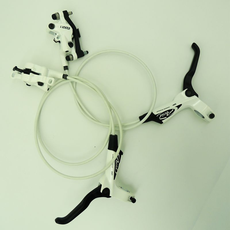 FMFXTR Bicycle Hydraulic Disc Brakes White Avid E1 Disc Brake Left Right Brake Lever Universal MTB