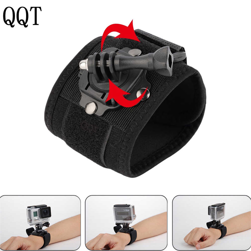 QQT for GoPro Accessories Sport Camera Wristband Mount with